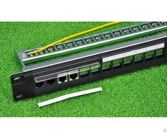 Multifunctional Blank Patch Panel Utp Stp 24port 19inch 1u