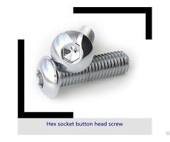 Stainless Steel Hex Socket Head Cap Screw Tornillo Bristol Button