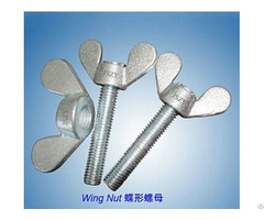 Stainless Steel Wing Nut With Round Head