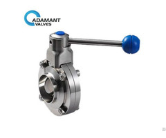 Sanitary Butterfly Valves With Butt Weld Ends Pull Handle