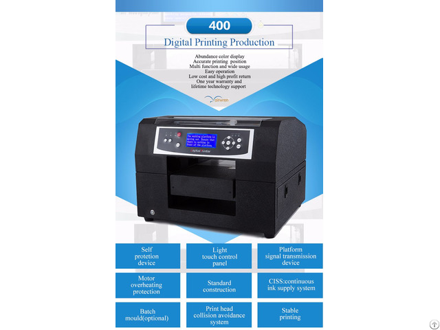 Haiwn 400 Eco Solvent Digital Flatbed Printer