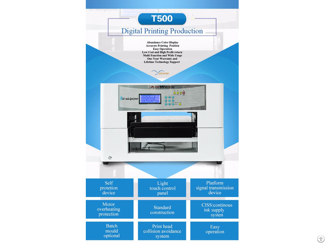Dtg Printing Machine For Small Business Ar T500 T Shirt Printer
