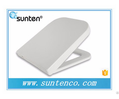 Stainless Steel White Square Toilet Seat In Xiamen