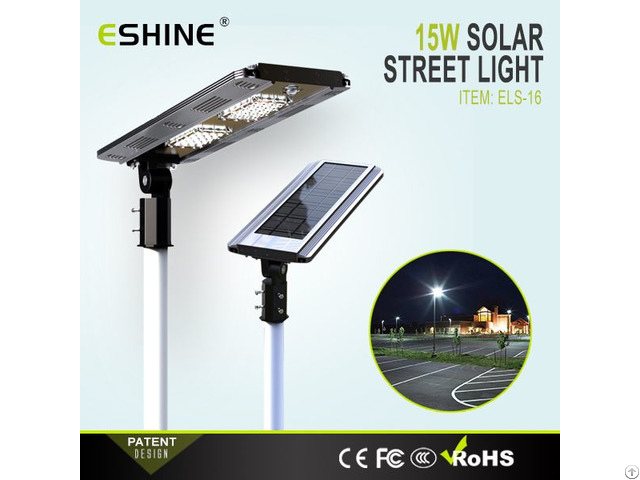 Ip65 Aluminum Lamp Body All In One Integrated Solar Led Street Light