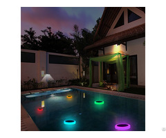 Rgb Floating On Water Solar Pool Lights With Remote Control