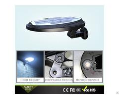 Rotatable Plastic Lamp Body Solar Motion Wall Light