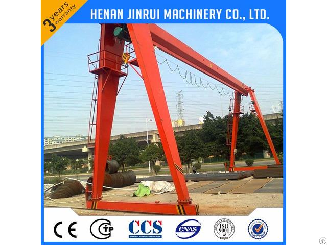 Electric Single Girder Gantry Crane