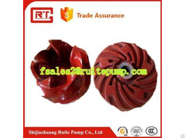 Natural Rubber Stainless Steel Impeller