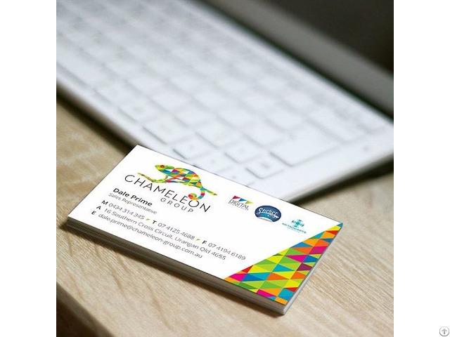 Matt Cello Glaze Business Cards Chameleon Print Group
