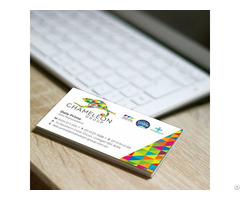 Matt Cello Glaze Business Cards Chameleon Print Group