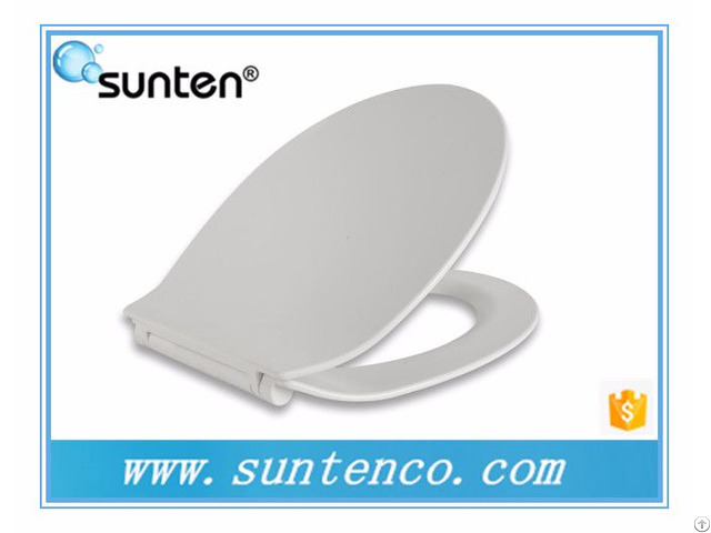 Xiamen White Duroplast Ultra Slim Soft Close Wall Hanging Toilet Seat