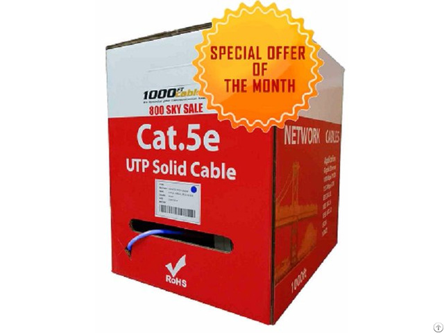 Bulk Cat5e Plenum Solid Copper Cable