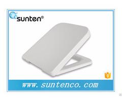 Xiamen White Soft Close Quick Release Square Toilet Seat With Scale