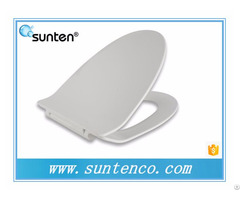 Xiamen White Silent Close Quick Release Ultra Slim V Shape Uf Toilet Seat