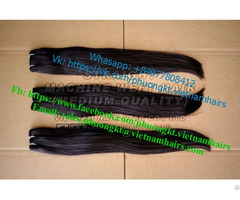 Natural Black Color 100% Remy And Double Weft 65cm