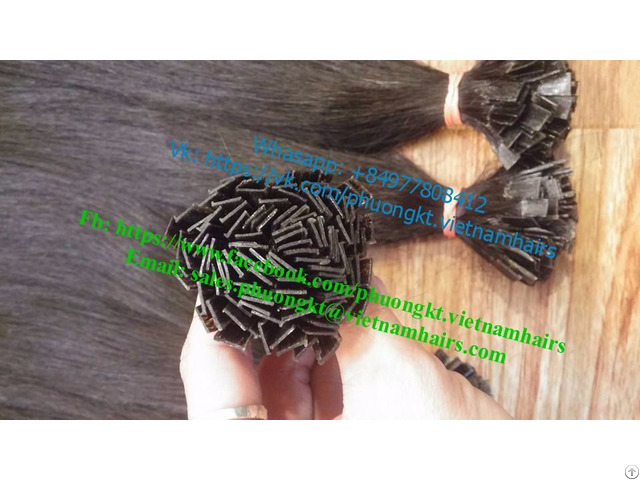 Flat Tip 40cm Natural Color Best Price And Quality From Vietnam Hair Star Co Ltd