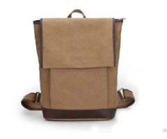 China Supplier High Quality Vintage Brow Canvas Backpack With Iso 9001 2008 Certificate