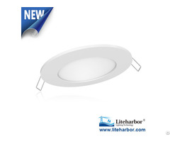 "4"" Ultra Thin Round Led Recessed Panel Light From Liteharbor Lighting"