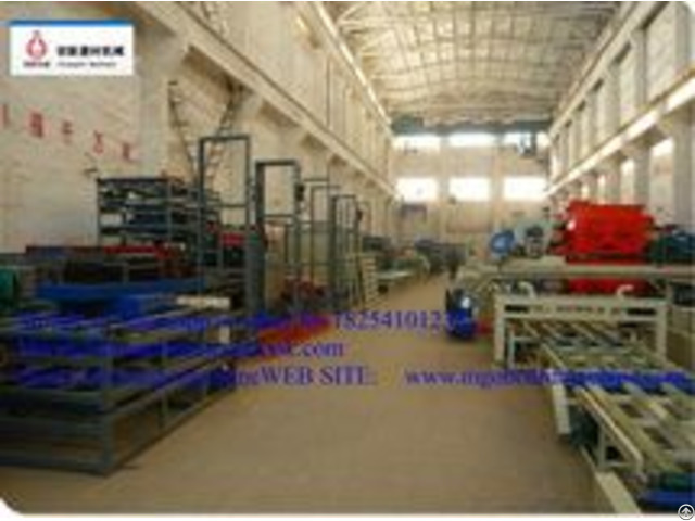Thickness2 25mm Unlimited Length Magnesium Oxide Board Production Line With Mgo Mgcl2 Sawdust