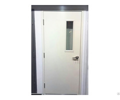 Fire Steel Door With Narrow Glass