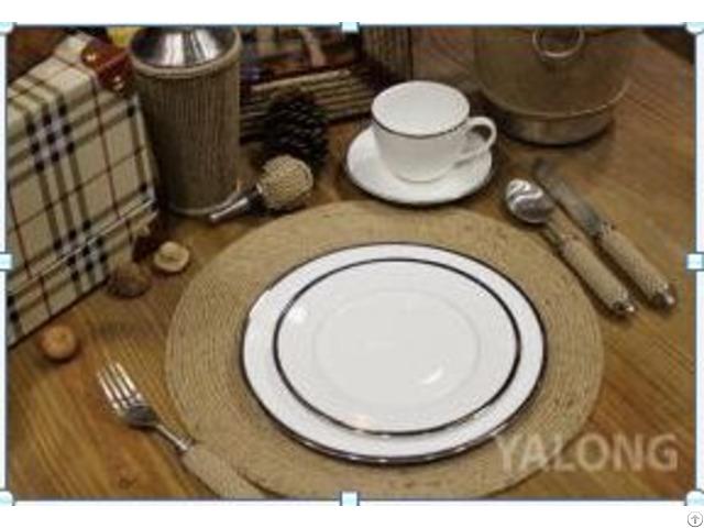 Yl Dy Ceramic Plate 4pcs Set