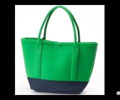 New Fashion Handbags Neoprene Tote Bags Contrast Color