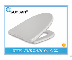Xiamen White Duroplast Soft Close V Shape Toilet Seat