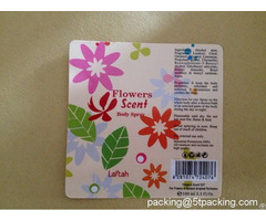 Flowers Scent Bottled Body Spray Glossy Labels