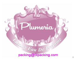 Plumeria Pink Embossed Labels For High End Bottled Perfume