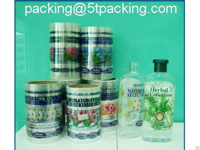 Herbal Collection Body Care Bottle Labels Made From Transparent Eco Friendly Plastic Material