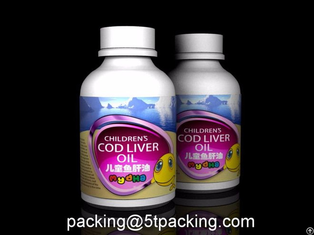My Dha Children S Cod Liver Oil Bottle Use Plastic Adhesive Labels