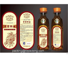 Nature Grape Seed Oil Bottle Applied Plastic Adhesive Labels