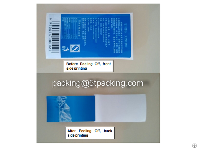 Double Face Printed Adhesive Labels In Blue Natural Ice Mineral Water Bottle