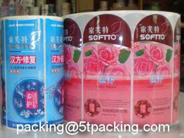 Pe Bottled Shampoo Labels Packed In Rolls