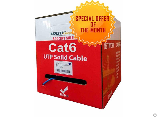 Cat6 Plenum Bulk Solid Copper Cable With Free Shipping