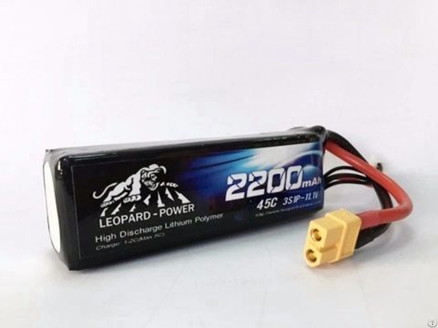 Leopard Power 2200 45c 3s Lipo Battery For Rc Heli Model