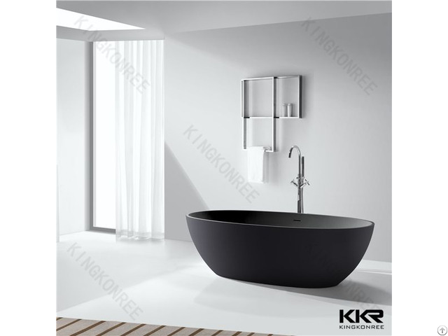Solid Surface Shower Room Black Bath Tubs