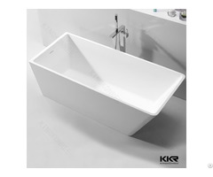 Kkr Factory Supply Artificial Stone Soft Bathtub