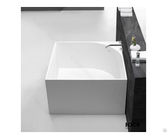 Hotel Use Square Bathtub Stone Resin Matt White