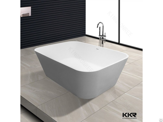 Simple Design White Solid Surface European Bathtubs