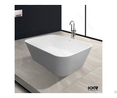Simple Design White Solid Surface European Bathtubs
