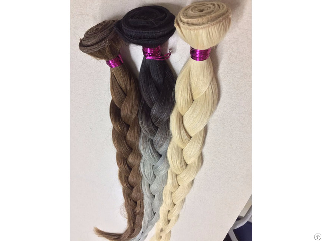 Colored Machine Weft Hair 100% Human