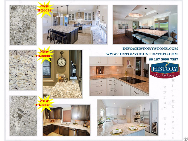 New Arrivals Granite Color Quartz Surface From History Countertops