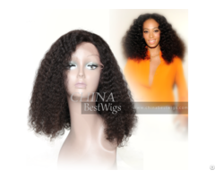 Kinky Glueless Lace Front Wig