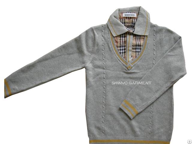 Shinvo Fashion Boy Design Sweater For Kids