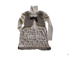 Fashion Design Knitting Sweater Dress For Girl Kids