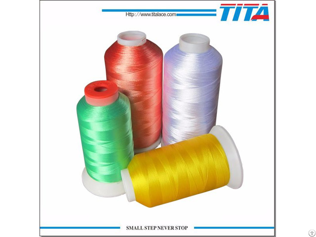 Dope Dyed 120d 2 100% Polyester Embroidery Threads