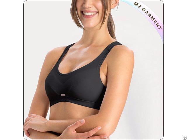 Black Slip On Active Exercise Bra