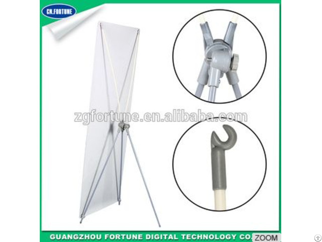 Lowest Price Iron Pole Rotary Adjustable 80 180 X Banner Display Stand