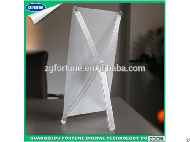 Low Price Korean Style Transparent Mini Desktop Display X Stand